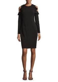 Calvin Klein Cold-Shoulder Sheath Dress
