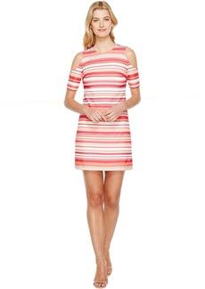 Calvin Klein Cold Shoulder Stripe Dress