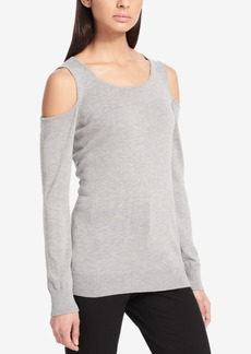Calvin Klein Cold-Shoulder Sweater