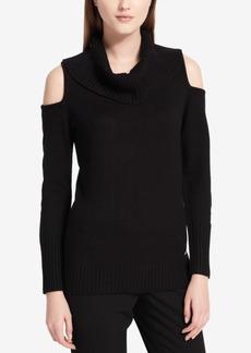 Calvin Klein Cold-Shoulder Sweater