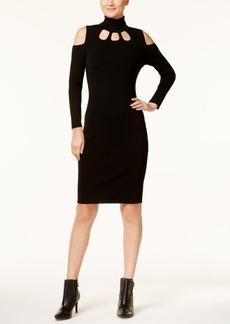 Calvin Klein Cold-Shoulder Sweater Dress