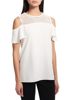 Calvin Klein Cold Shoulder Top