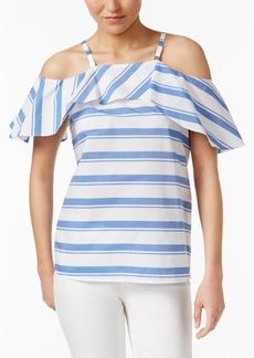 Calvin Klein Cold-Shoulder Top
