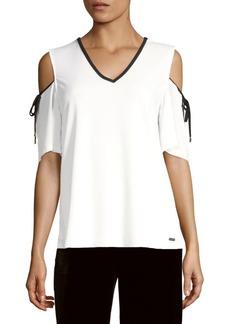 Calvin Klein Cold Shoulder Top
