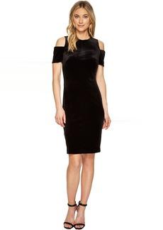 Calvin Klein Cold Shoulder Velvet Sheath Dress CD7V114R