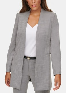 Calvin Klein Collarless Suit Jacket
