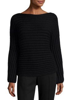 Calvin Klein Collection Chunky Knit Boat-Neck Sweater