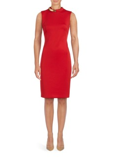 Calvin Klein Collection Collared Sheath Dress