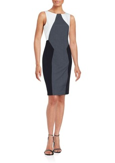 Calvin Klein Collection Colorblock Patchwork Dress