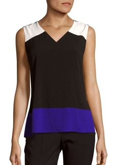 Calvin Klein Collection Colorblock Sleeveless Top