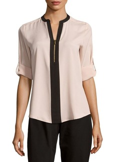 Calvin Klein Collection Contrast Crepe Blouse