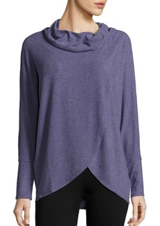 Calvin Klein Collection Cowlneck Faux Wrap Top