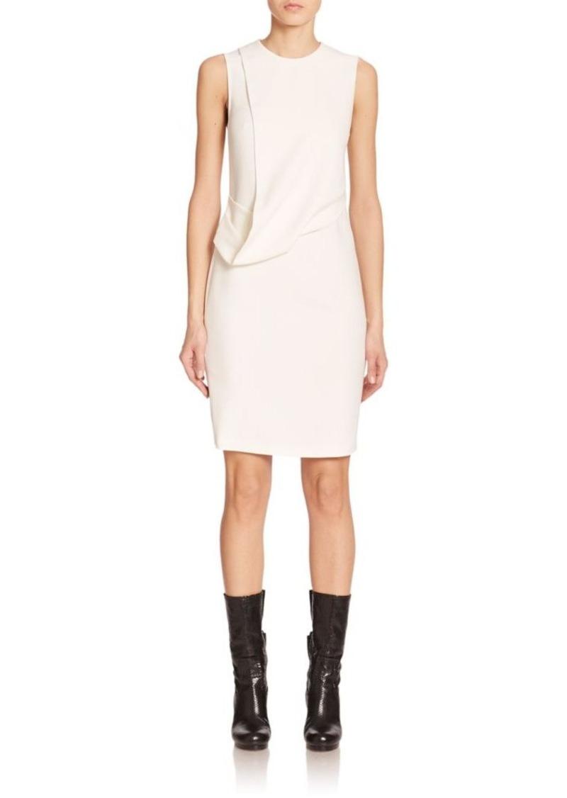 Calvin Klein Collection Daina Drape-Front Sheath