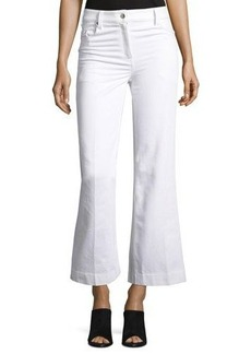 Calvin Klein Collection Fray Bis Flared Cropped Jeans