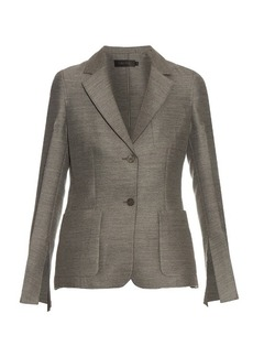 Calvin Klein Collection Hamlin single-breasted wool and silk-blend blazer