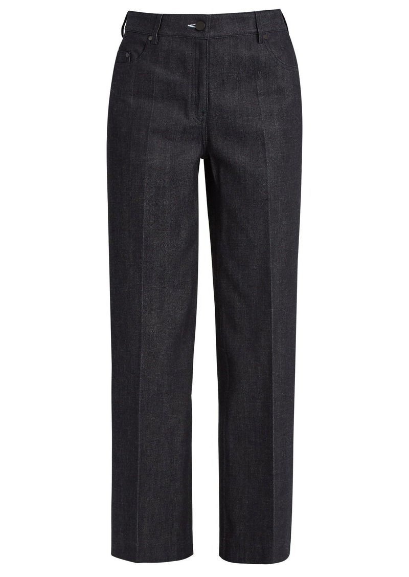 Calvin Klein Collection High-waisted wide-leg jeans