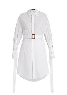 Calvin Klein Collection Katya belted cotton shirt