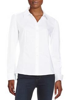 Calvin Klein Collection Knit Accent Shirt