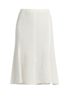 Calvin Klein Collection Laflair panelled linen skirt