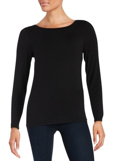 Calvin Klein Liquid Jersey Long Sleeved Top