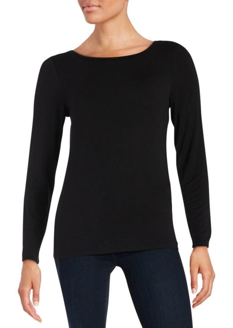 Calvin Klein Liquid Jersey Long Sleeved Top