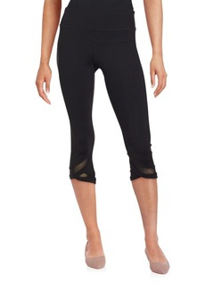 Calvin Klein Collection Mesh Trimmed Capri Pants