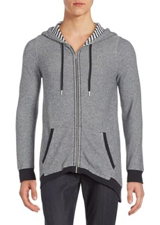 Calvin Klein Performance Micro-Zigzag Knit Hooded Jacket