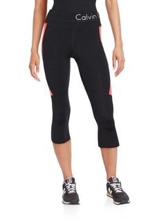 Calvin Klein Collection Paneled Cropped Performance Pants