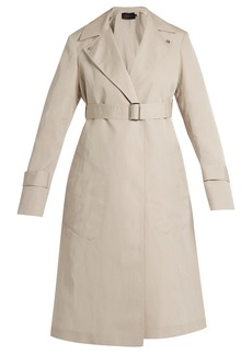 Calvin Klein Collection Peak-lapel long silk-blend coat