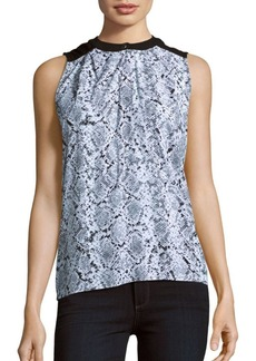 Calvin Klein Collection Python Print Sleeveless Blouse