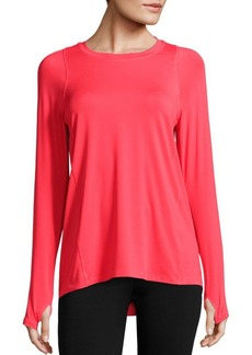 Calvin Klein Collection Racerback Panel High-Low T-Shirt