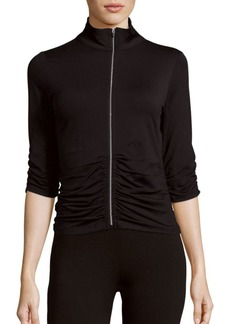 Calvin Klein Collection Ruched Zippered Jacket