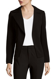 Calvin Klein Collection Scuba Crepe Open Jacket