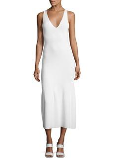 Calvin Klein Collection Sleeveless Cashmere Flounce Midi Dress