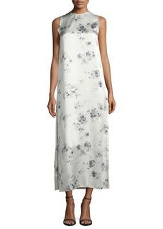 Calvin Klein Collection Sleeveless Floral-Print Midi Dress