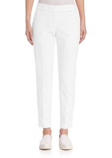 Calvin Klein Collection Solid Cotton Blend Pants