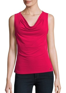 Calvin Klein Collection Solid Cowlneck Top