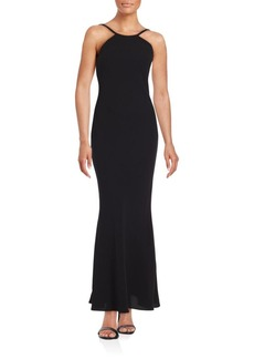 Calvin Klein Collection Solid Highneck Gown