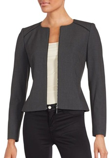 Calvin Klein Collection Solid Zip-Front Jacket