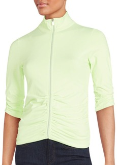 Calvin Klein Collection Solid Zip-Front Top