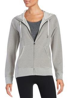 Calvin Klein Collection Striped Zip-Front Hoodie