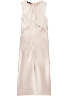 Calvin Klein Collection Woman Lamica Tulle-trimmed Silk-satin Dress Blush