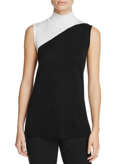 Calvin Klein Color Block Mock Neck Sweater