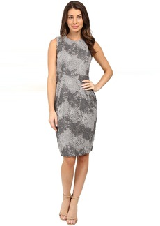 Calvin Klein Color Blocked Lace Sheath Dress