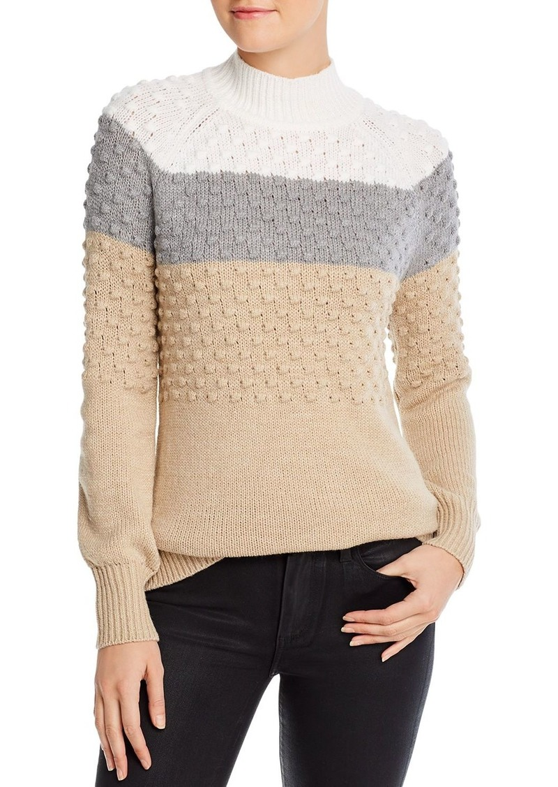 Calvin Klein Color-Blocked Popcorn-Knit Sweater