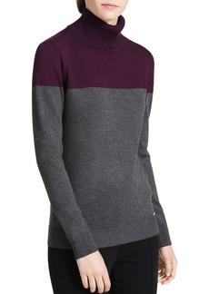Calvin Klein Color-Blocked Turtleneck Sweater