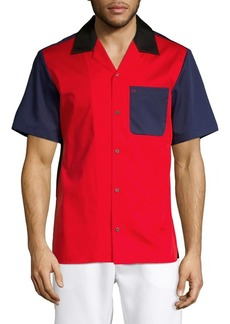Calvin Klein Colorblock Cotton-Down Shirt