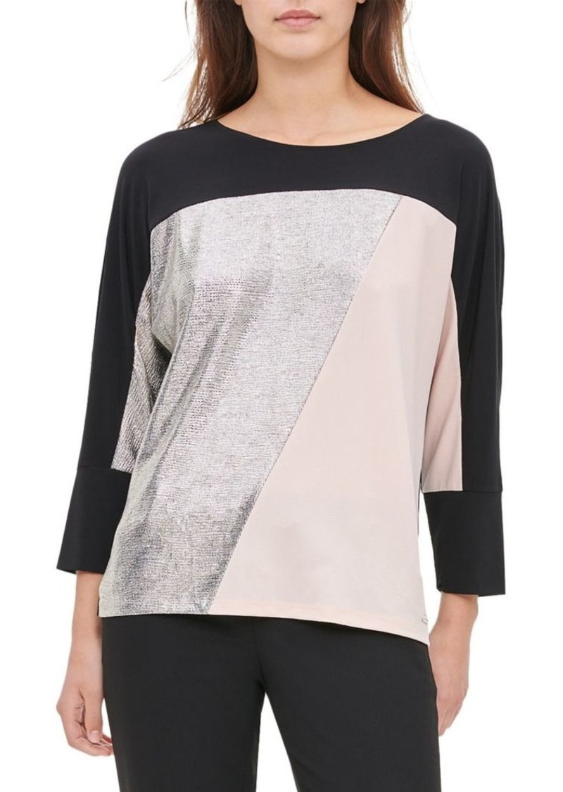 Calvin Klein Colorblock Dolman-Sleeve Top