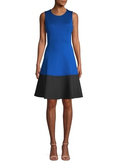Calvin Klein Colorblock Fit & Flare Dress