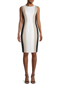 Colorblock Fitted Sheath Dress